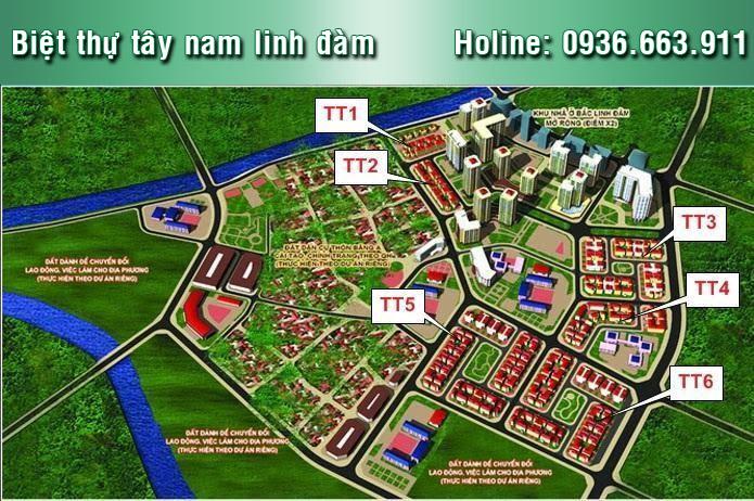 Biệt thự TT6 Tây Nam Linh Đàm